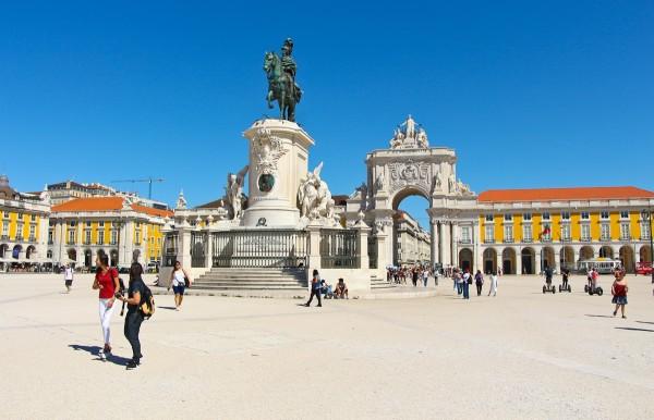 the Praça do Comercio, Lisbon, Portugal or the Plaza Commerical
