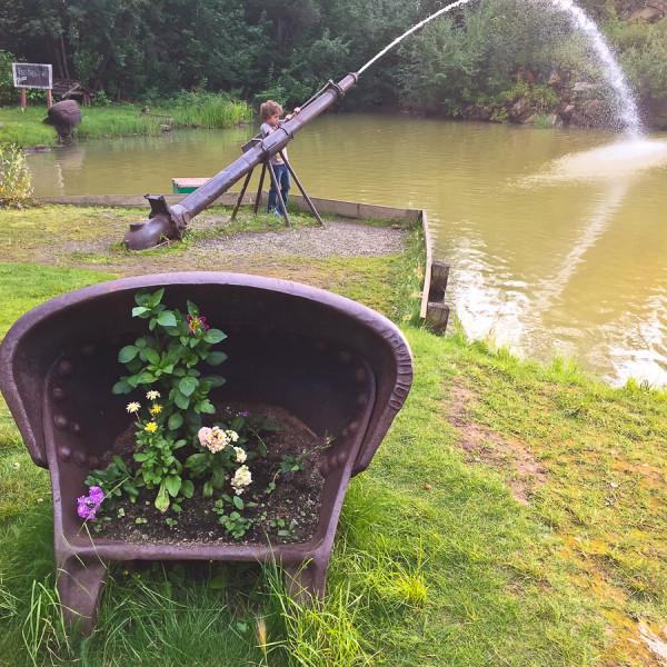 Water Hose inside Pioneer Park