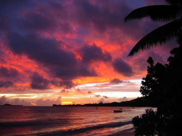 Paradise found? Sunset in the Seychelles.