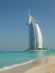 the iconic, Burj Al Arab hotel in Dubai, top luxury hotel in the world