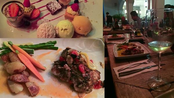 dinner at Sorstis in la paz, mexico
