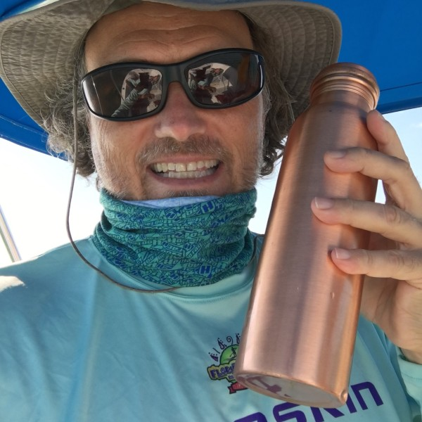 staying adventurous with the copper h2o water bottle in the Florida Keys