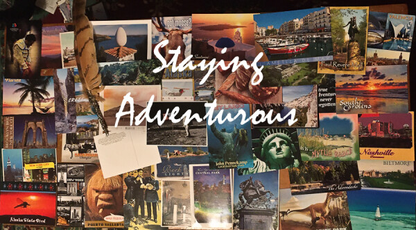 sending postcards to inspire others to stay adventurous