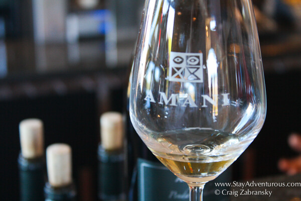 tasting the amani wines in stellenbosch, south africa