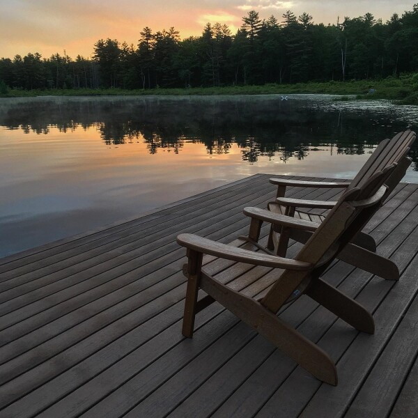 the sunrise at the lake, Lodge at Woodloch, a Destination Spa