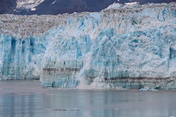 view of hubbard glacier calving in Yakutat Bay, Alaska Cruise with Princess Cruises