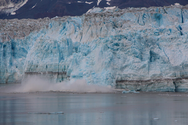 Calving view of Hubbard Glacier in Yakutat Bay, Alaska Cruise with Princess Cruises