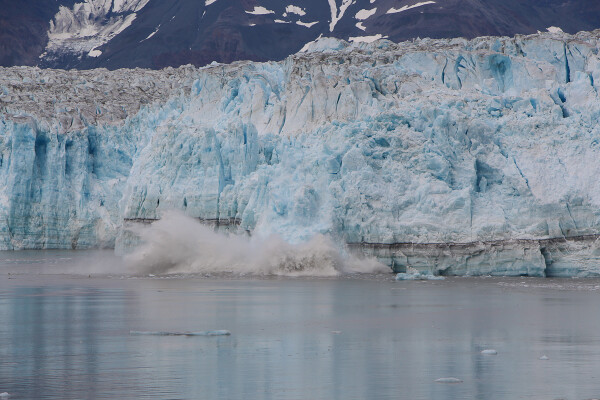 Calving Hubbard Glacier in Yakutat Bay, Alaska Cruise with Princess Cruises