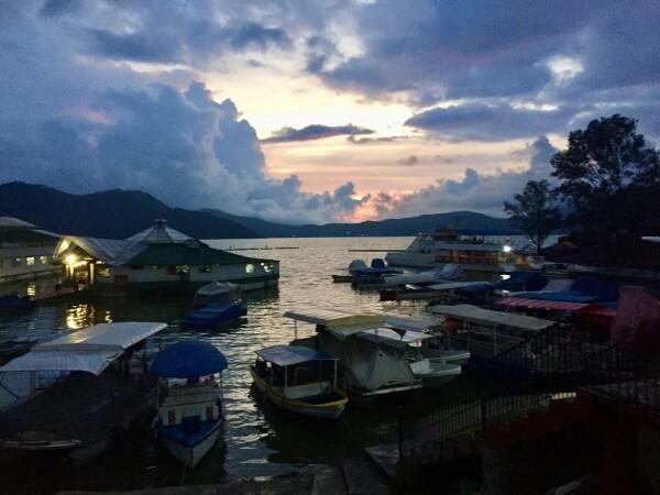 sunset over lake avandaro in valle de bravo, a pueblo magico in edo mexico, Mexico