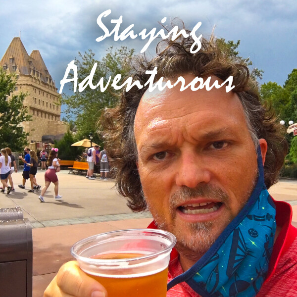 craig zabransky with a beer in Epcot World Showcase