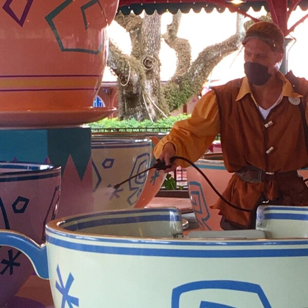 Disney cleaning up the Mad Hatter Tea PArty Ride