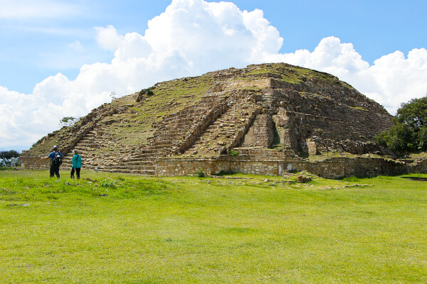 the site of monte alban, oaxaca, mexico