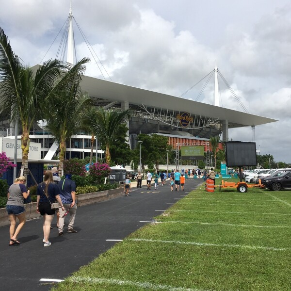 Hard Rock Stadium Entrance for Miami Dolphins Game