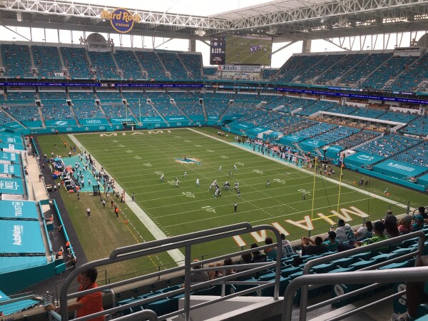 seattle seahawks at miami dolphins oct 4 2020 field photo
