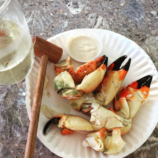 stone crabs served in the florida keys