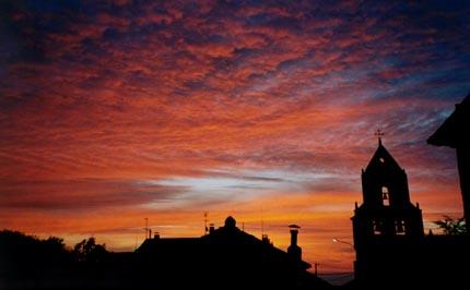 sunset camino de santiago