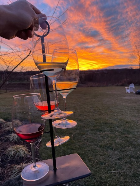sunset tasting at james charles vienyard and winery in winchester, virginia