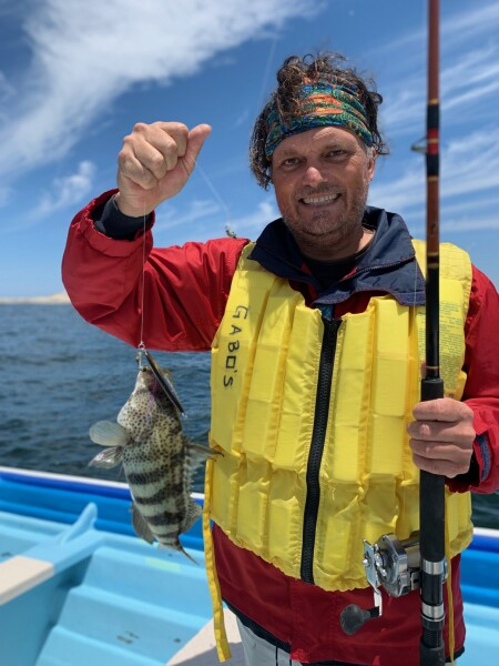 Catching Fishi in Magdalena Bay, Baja California Sur, Mexico