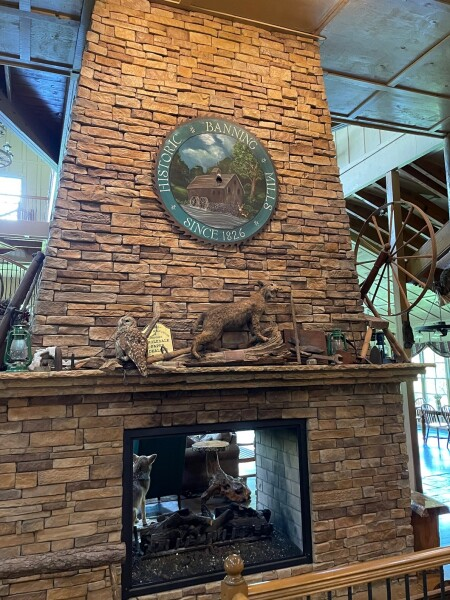 the Lodge is place to appreciate the history of Banning Mills