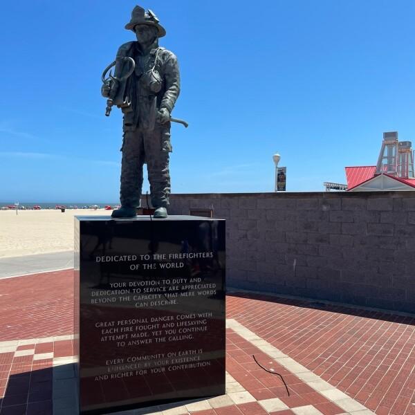 Firefighter Dedication Monumnet Memorial for September 11th on the Boardwalk in Ocean City, Maryland