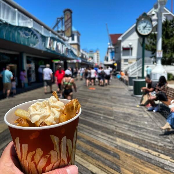 Thrasher's Fries on the Ocean City Boardwalk, Maryland